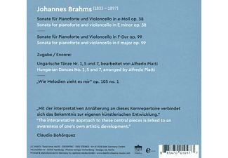 Peter Nagy, Claudio Bohorquez - Brahms Cello Sonatas - (CD)