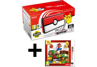 NINTENDO 2DS XL Pokeball Edition and Mario 3D Land