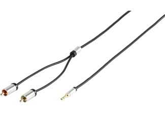 VIVANCO Premuim Audiokabel 3.5mm / 2xRCA 2.5m - Svart