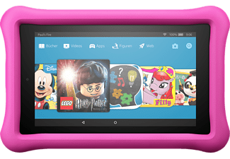 AMAZON Fire 7 Kids Edition, Tablet mit 7 Zoll, 16 GB, 1 GB RAM, Fire OS, Schwarz/Pink