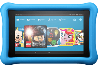 AMAZON Fire 7 Kids Edition, Tablet mit 7 Zoll, 16 GB, 1 GB RAM, Fire OS, Schwarz/Blau