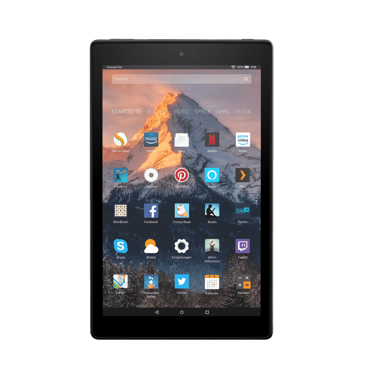 AMAZON Fire HD 10 mit Alexa Tablet, 32 GB in Schwarz