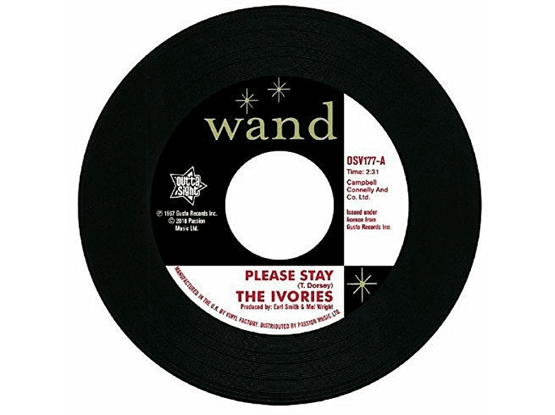 The Ivories - Please Stay / I'm In A Groove (Vinyl Single) [Vinyl]