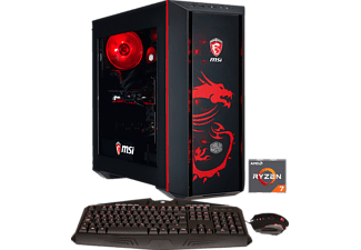HYRICAN MSI DRAGON EDITION 5984, Gaming PC mit Ryzen™ 7 Prozessor, 16 GB RAM, 500 GB SSD, 1 TB HDD, Geforce® GTX 1080, 8 GB GDDR5X Grafikspeicher