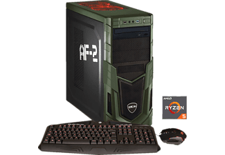 HYRICAN MILITARY GAMING 5965 RYZEN, Gaming PC mit Ryzen™ 5 Prozessor, 16 GB RAM, 240 GB SSD, 1 TB HDD, Geforce® GTX 1060, 6 GB GDDR5 Grafikspeicher