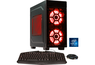 HYRICAN STRIKER ANNIVERSARY 5993 RED, Gaming PC mit Core™ i7 Prozessor, 16 GB RAM, 500 GB SSD, 2 TB HDD, Geforce® GTX 1080 Ti, 11 GB GDDR5X Grafikspeicher