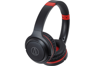 AUDIO-TECHNICA ATH-S200BTBRD, On-ear Kopfhörer, Headsetfunktion, Bluetooth, Schwarz/Rot