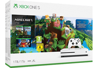 MICROSOFT Xbox One S 1TB Konsole - Minecraft Bundle