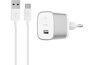 BELKIN Boost Up Home Charger met USB-C-kabel Quick Charge 3.0 Zilver