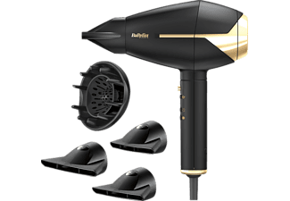 BABYLISS Le Pro Compact Gold Edition AC-, Haartrockner, Schwarz/Gold