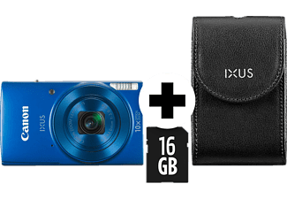 CANON Ixus 190 Kit (DCC1320+8GB) Digitalkamera, 20 Megapixel, 10x opt. Zoom, Blau