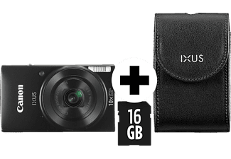 CANON Ixus 190 Kit (DCC1320+8GB) Digitalkamera, 20 Megapixel, 10x opt. Zoom, Schwarz