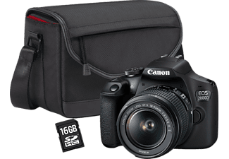CANON EOS 2000D BK 18-55 IS μαζί με SB130 και 16GB SEE