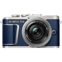 OLYMPUS PEN E-PL 9 Systemkamera 16.1 Megapixel mit Objektiv 14-42 mm f/3.5, 7.6 cm Display   Touchscreen, WLAN