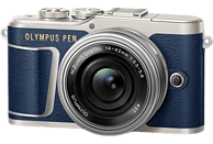 OLYMPUS PEN E-PL 9 Systemkamera 16.1 Megapixel mit Objektiv 14-42 mm , 7.6 cm Display   Touchscreen, WLAN