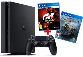 PLAYSTATION PS4 Slim 500 GB Noir + GT Sport + God of War