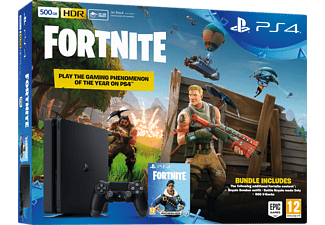 PLAYSTATION PS4 Slim 500 GB Zwart + Fortnite Voucher (9722717)