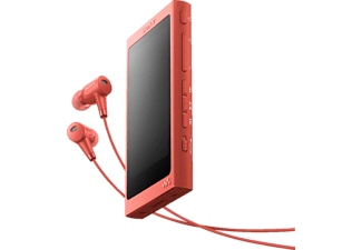 SONY NW-A45HN, Mp3-Player, 16 GB, Akkulaufzeit: bis zu 45 Std. (MP3), Rot