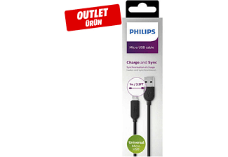 PHILIPS DLC2416U/10 1 m Micro USB Type-C Şarj/Data Kablosu Siyah Outlet