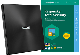 ASUS DVD Brenner ZenDrive SDRW-08U7M-U inkl. Kaspersky Total Security (3 User, 1 Jahr)