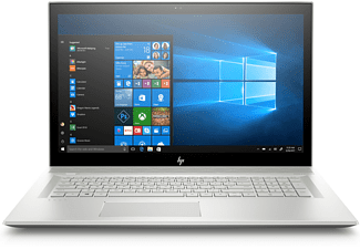 HP ENVY 17-bw0300ng, Notebook mit 17.3 Zoll Display, Core™ i5 Prozessor, 8 GB RAM, 1 TB HDD, 128 GB SSD, GeForce MX150, Silber