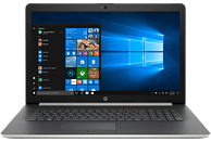 HP 17-BY0316NG, Notebook mit 17.3 Zoll Display, Core™ i7 Prozessor, 8 GB RAM, 1 TB HDD, 256 GB SSD, Radeon™ 530, Silber