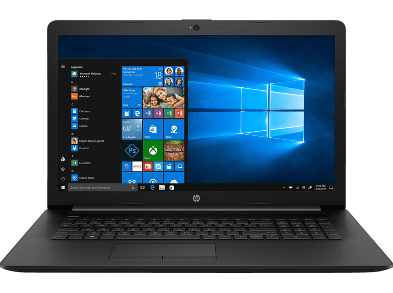 HP  17-by0332ng, Notebook, Core™ i3 Prozessor, 8 GB RAM, 256 GB SSD, Intel® HD-Grafik 620, Schwarz | 00193424004775