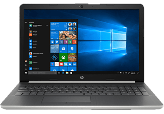 HP 15-da0316ng, Notebook mit 15.6 Zoll Display, Core™ i7 Prozessor, 16 GB RAM, 1 TB HDD, 256 GB SSD, GeForce MX130, Silber