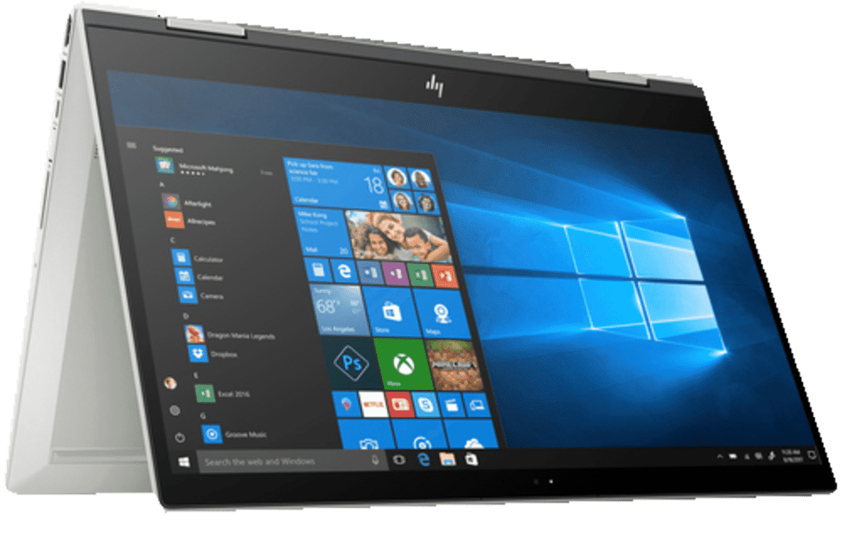 HP  ENVY X360 15-cn0305ng Convertible mit Core™ i7, NVIDIA GeForce MX150 & 16 GB RAM in Silber | 00193015202269