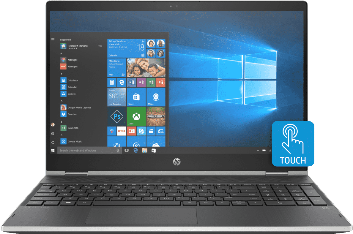 HP  Pavilion x360 15-cr0306ng Convertible mit Core™ i3, Intel® UHD Graphics 620 & 12 GB RAM in Schwarz/Silber   00193808014819