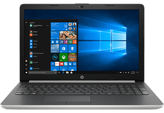 HP 15-da0346ng, Notebook, Core™ i3 Prozessor, 8 GB RAM, 1 TB HDD, 128 GB SSD, Intel® HD-Grafik 620, Silber