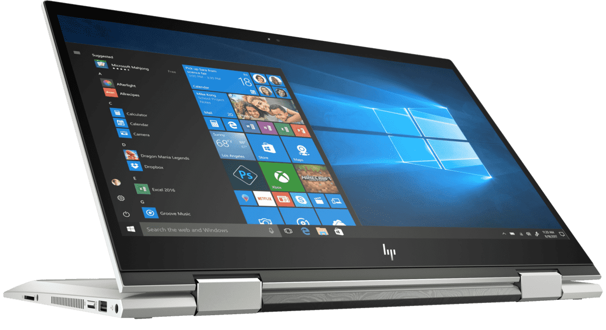 HP  ENVY X360 13-cn0304ng Convertible mit Core™ i7, Intel® UHD Grafik 620 & 16 GB RAM in Silber | 00193015202177