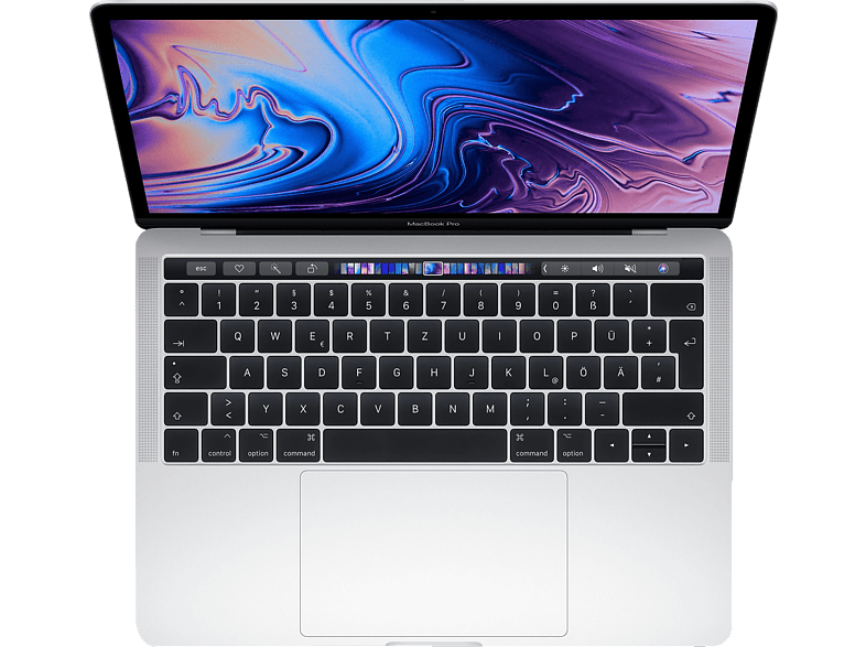 APPLE MacBook Pro MR9V2D/A-139667 mit französischer Tastatur, Notebook mit 13.3 Zoll Display, Core i7 Prozessor, 512 GB SSD, Intel® Iris™ Plus-Grafik 655, Silber