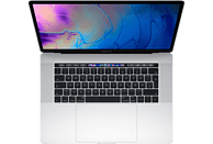 APPLE MacBook Pro MR972D/A-140182 mit internationaler Tastatur, Notebook mit 15.4 Zoll Display, Core i9 Prozessor, 1 TB SSD, Radeon™ Pro 560X, Silber