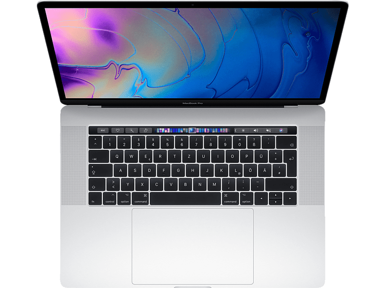 APPLE MacBook Pro MR972D/A-140165 mit deutscher Tastatur, Notebook mit 15.4 Zoll Display, Core i9 Prozessor, 512 GB SSD, Radeon™ Pro 560X, Silber