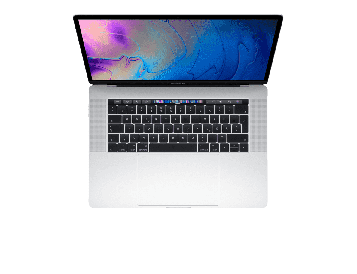 APPLE  MacBook Pro MR962D/A-139894 mit deutscher Tastatur Notebook mit Core i9, RAM, 512 GB & Radeon™ Pro 555X in Silber | 04005922647667