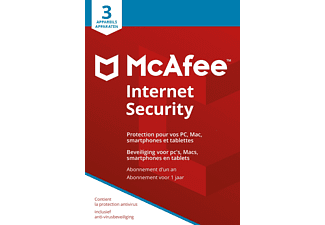 Internet Security 2018 - 1 jaar / 3 apparaten NL/FR
