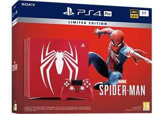 SONY Playstation 4 Pro 1TB Limited Ed. (inkl Spider-Man, 1 handkontroll)