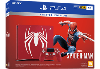 SONY Playstation 4 1TB Limited Ed. (inkl Spider-Man, 1 handkontroll)