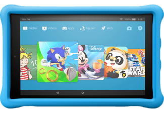 AMAZON Fire HD 10 Kids Edition, Tablet mit 10.1 Zoll, 32 GB, Fire OS, Schwarz/Blau