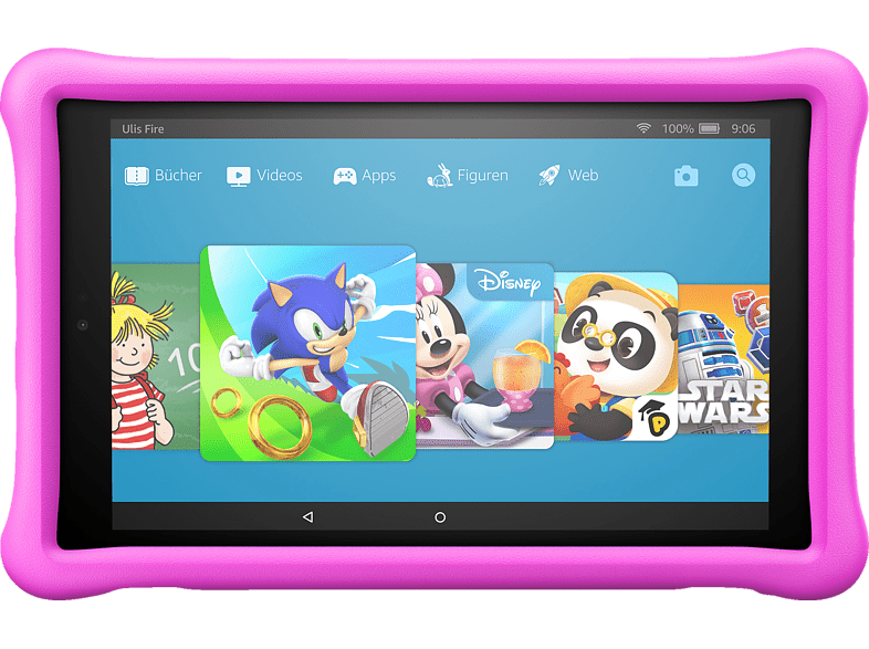 AMAZON Fire HD 10 Kids Edition, Tablet , 32 GB, 10.1 Zoll, Schwarz/Pink
