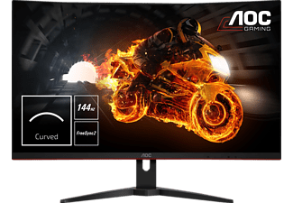 AOC C32G1 31.5 Zoll Full-HD 1800R curved Display mit 144Hz, Flicker-Free und FreeSync-Technologie (1 ms (grau-grau) Reaktionszeit, FreeSync, 144 Hz)