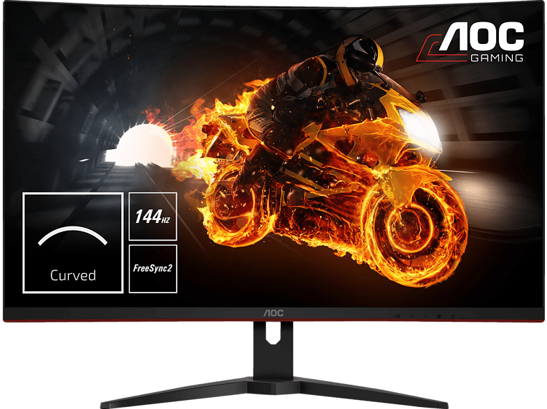 AOC C32G1 Full-HD 1800R curved Display mit 144Hz, Flicker-Free und FreeSync-Technologie (1 ms (grau-grau) Reaktionszeit, FreeSync, 144 Hz) | 04038986116510