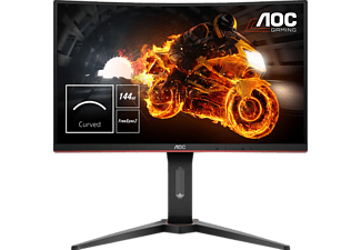 AOC C27G1 27 Zoll Full-HD Curved Gaming Monitor mit FlickerFree-Technologie, 144Hz und FreeSync (1 ms (Grau zu Grau) Reaktionszeit, FreeSync, 144Hz)