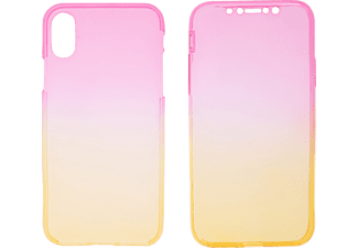 V-DESIGN V-LV 065 Handyhülle, Pink/Gelb, passend für Apple iPhone X