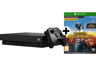 MICROSOFT XBox One X Bundle 1TB schwarz inkl. Playerunknown's Battlegrounds (DLC)