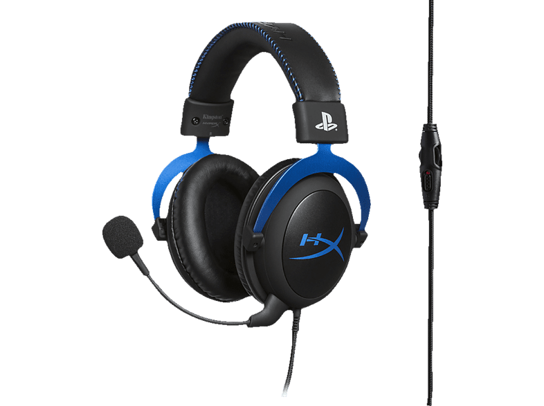 HYPERX Cloud Blue , Gaming-Headset, Schwarz/Blau