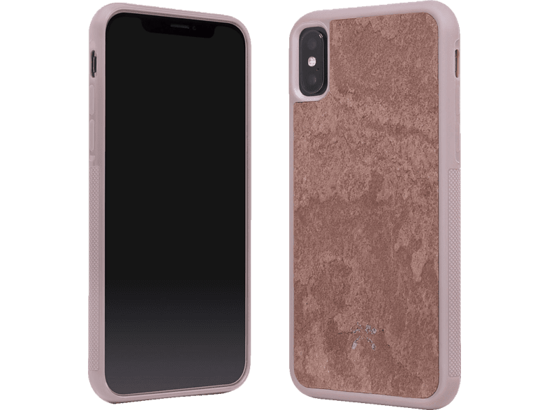 WOODCESSORIES  ECOCASE STONE Backcover Apple iPhone X echter Stein Rot | 04260382633296