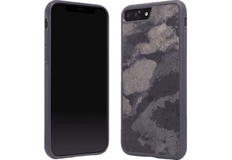 WOODCESSORIES ECOCASE STONE Handyhülle, Grau, passend für Apple iPhone 7 Plus, iPhone 8 Plus