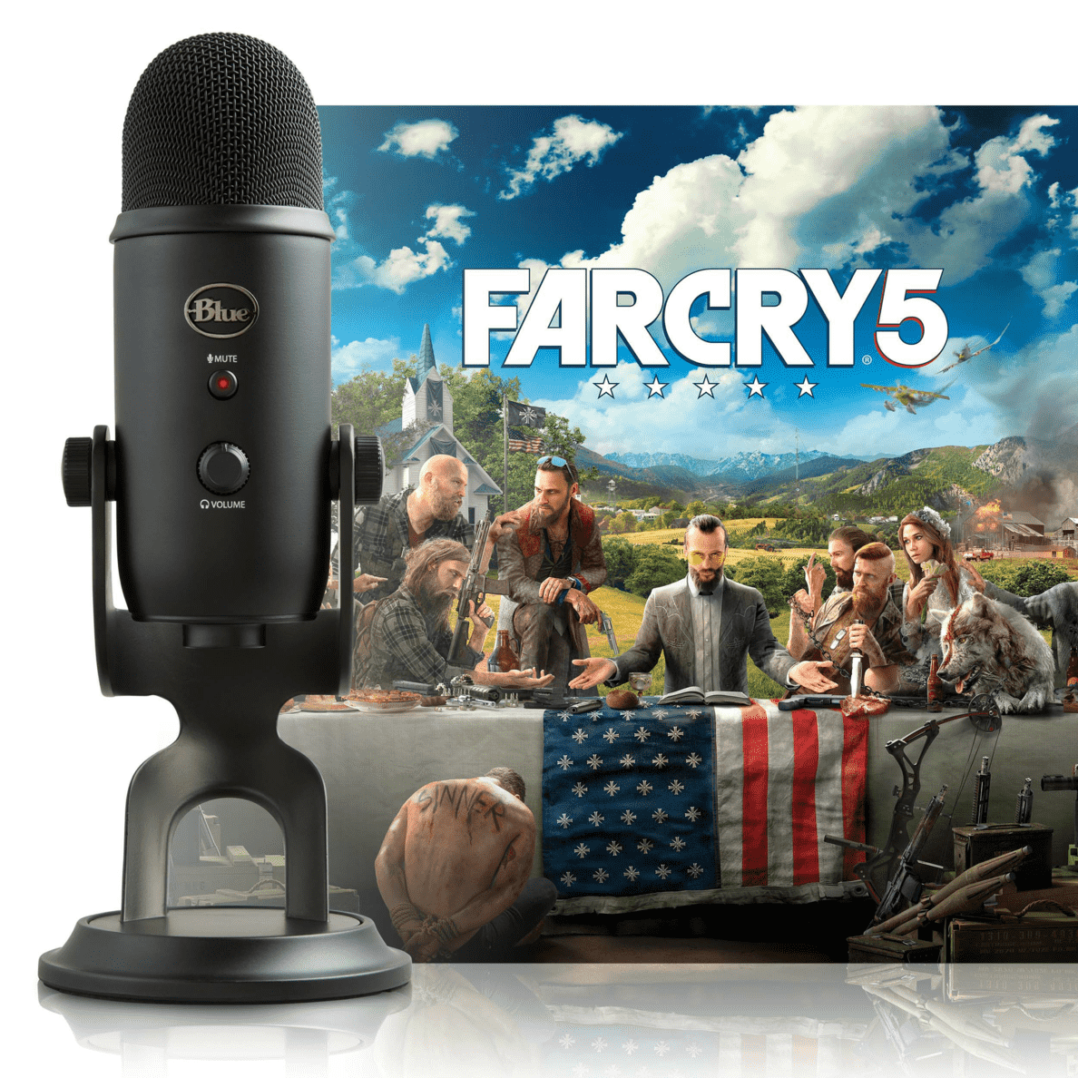 BLUE MICROPHONES Blackout Yeti + Far Cry 5 PC Version Mikrofon Schwarz